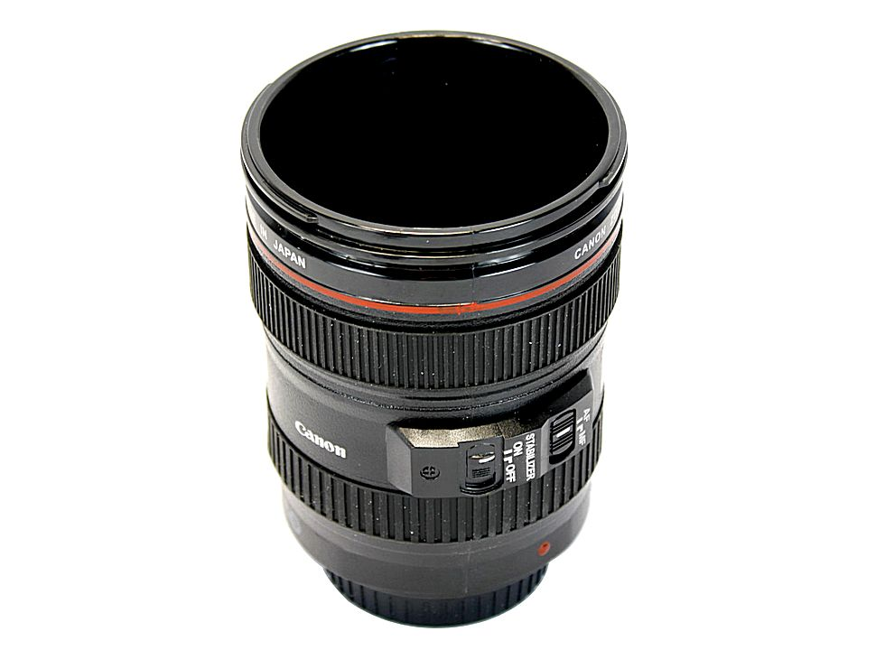 Canon camera lens shaped coffee mug cup ef 24 105mm 4l Nikon camera lens coffee mug