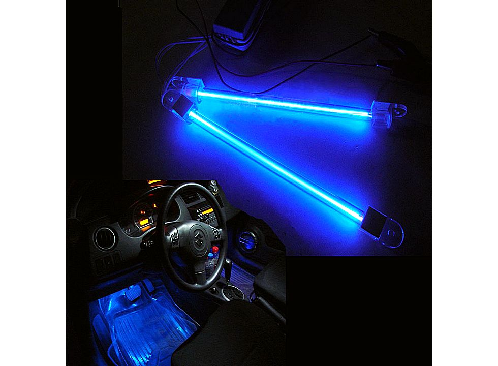 car auto bright interior blue neon light tube bar 12v hk q00193bu buy at lowest prices. Black Bedroom Furniture Sets. Home Design Ideas