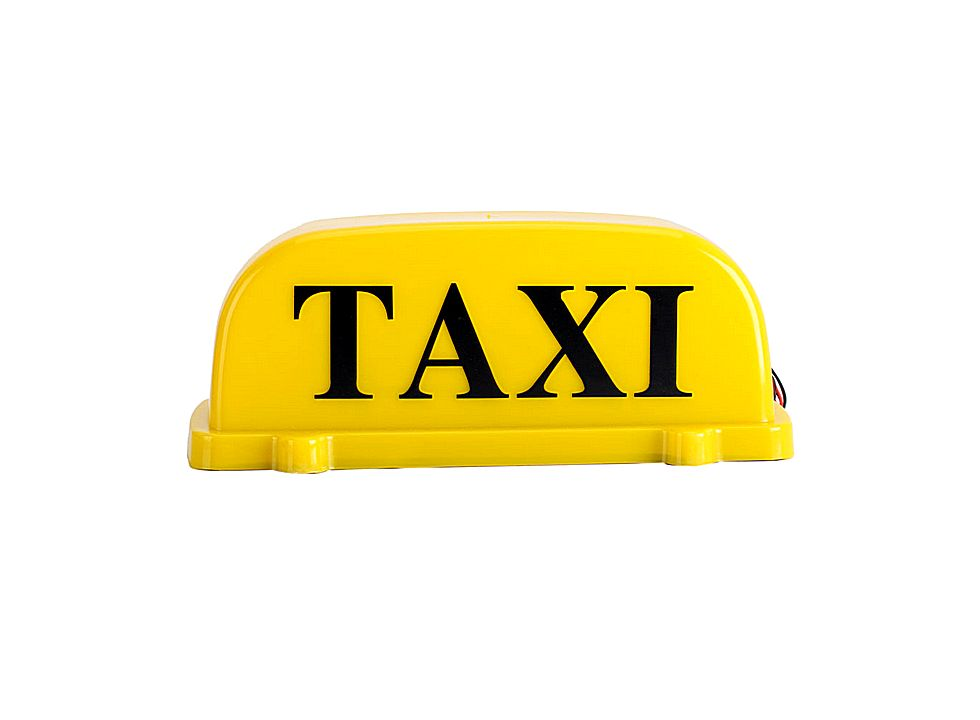 magnetic roof top taxi cab sign light yellow 12v q00405ye. Black Bedroom Furniture Sets. Home Design Ideas