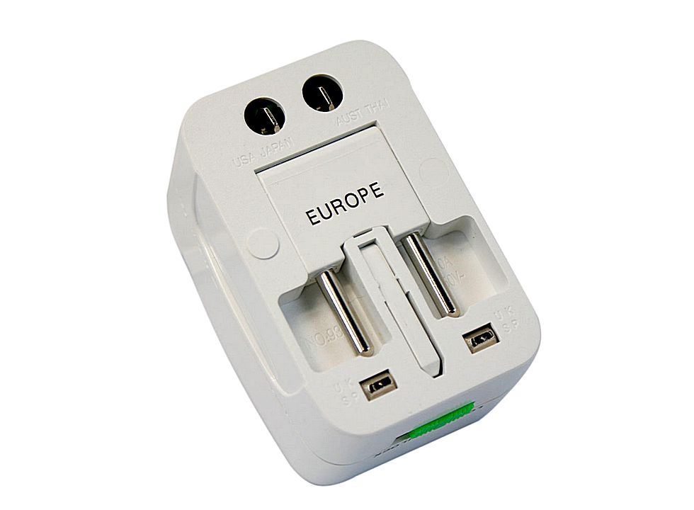Universal International Travel Power Plug Adapter White E02550 Buy At Lowest Prices