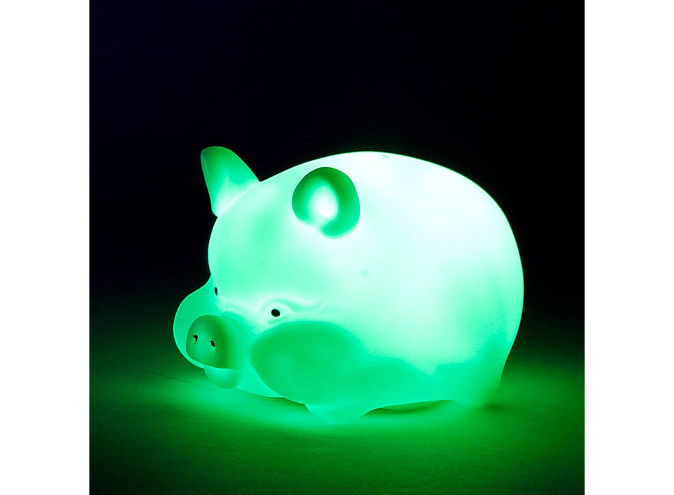 Color Changing LED Pig Shape Night Light 13006299, Buy at ...