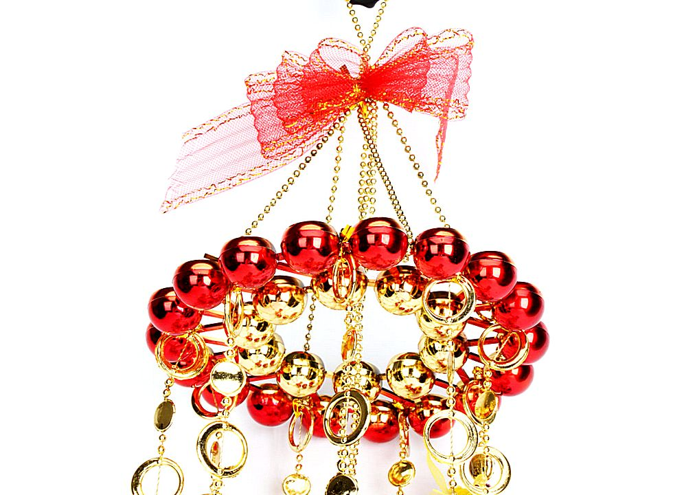 Beautiful Christmas Tree Ornaments Ball Hanger Red W01255
