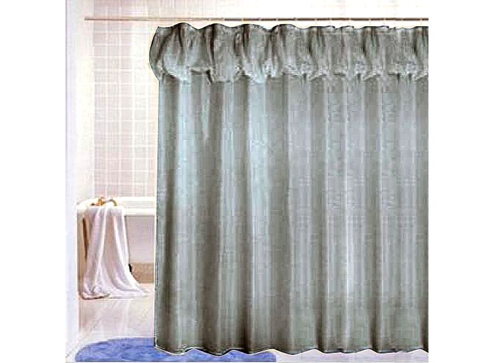 Beige fancy fabric shower curtain with little dot j01004 Beige curtains