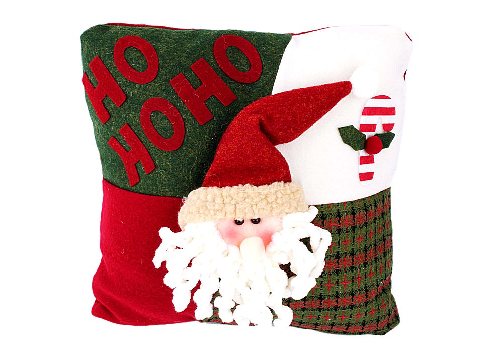Decorative Christmas Throw Pillow HO HO HO J03925, Buy at lowest prices.