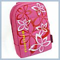Flower Pattern Digital Camera Case Pouch Bag Pink BL-106 D00316