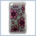 Leaf Pattern Rhinestone Bling Plastic Case for iPhone 3G I00190