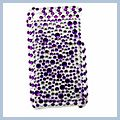 Purple Granular Rhinestone Bling Plastic Case for iPhone 3G I00195
