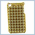 Yellow Pearl Pattern Rhinestone Bling Plastic Case for iPhone 3G I00200