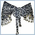 Azury Animal Patterns with Silver Coins Belly Dance Hip Scarf F2019AZ