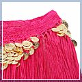 Belly Dance Gold Coin Hip Scarf Belt Costume Crimson 11001254 1