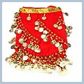 Belly Dance Hip Scarf Red Multi-level F00693 2