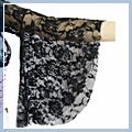 Black Belly Dance Costume Lace Top F00326 2