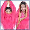 Chiffon Belly Dance Shawl Rose Red 11003460