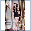 European Sexy Dress Nightclubs Costume Free Size Black 11002808