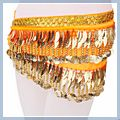 Leaf Shape Belly Dance Hip Scarf Orange F00691