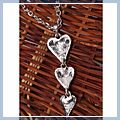Lovely Alloy Three Heart Shape Sweater Chain HK-S01643
