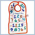 Lovely Numeral Style Baby Bib F00284