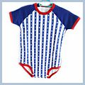 Months Blue Unisex Lovely Striped Baby Romper 6-12 F00347