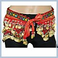 Multicolor Beads Belly Dance Hip Scarf Costume Belt F2004