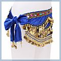 Multicolor Diamond Velvet Belly Dance Hip Scarf Sapphire F00689 1