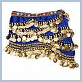 Multicolor Diamond Velvet Belly Dance Hip Scarf Sapphire F00689 2