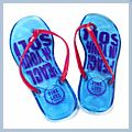 One Pair Blue Jelly Slipper Size of Flip-flop 9 F00435
