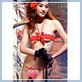 Red Eyelet Babydoll Sexy Lingerie Women Underwear Bra and Panties F00408