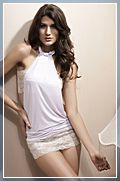 Sexy Wiping Bosom Lace Dress Nightclubs Costume Free Size White 11002784