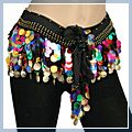 Shining Sequins Coin Belly Dance Hip Scarf Multi-color F2002