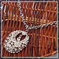 Silver Lovely Oval Multi Rhinestone Sweater Chain S00281