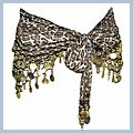 Yellow Animal Patterns Belly with Gold Coins Dance Hip Scarf F2017YE