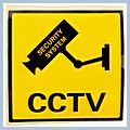 CCTV Monitoring Warning Stickers Black Yellow & 21000989