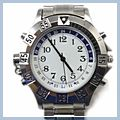 White and Blue Carved Number Watch Player 2GB MP3 E01723 2