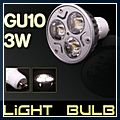 LED Flat Fluorescent Lamp Spotlight LED Bulb GU10 3W 85-265V 6000~6500K 3 E00522