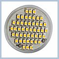 LED Warm White Spot Light Bulb Lamp GU10 2.5W 48 3000-3500K (230V) 13006034 2