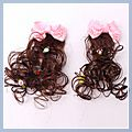 Bowknot Hair Clip with Flower Light Pink HK-S01432
