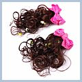 Bowknot Hair Clip with Flower Pink S01433