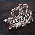 Mini Rhinestone Crown Bridal Hair Comb Pin 003 S01926