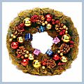 """Beautiful Gifts Christmas Wreath Home Decoration Golden CA-171 14"""" W01212"""