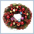 """Beautiful Gifts Christmas Wreath Home Decoration Red CA-171 14"""" W01211"""