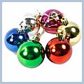 Christmas Decoration Colorful Balls 6pcs 5cm J02900