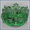 Masquerade Ball Party Dress Princess Mask Green W01132