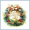 """Merry Christmas Flowers Wreath for Home Decoration CA-28 12"""" W01216"""