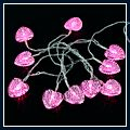 Shaped Battery LEDs Light Holiday Decoration Pink 1.5m Love-heart J03070
