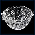 Beautiful Flower Pattern Transparent Fruit Bowl J02461