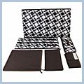 Black And White Dots With Cells Three Pumping Storage Box Bag J02533 1