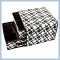Black And White Two Pumping Snow Storage Box Bag Two-story J02526