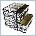 Classic Black and White Junior Pumping Storage Box Bag J02540