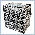 Classic Waterproof Barrel Storage Box Large Black and White J02555