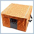 Cloud Pattern Storage Case Box Orange 40cm J02595